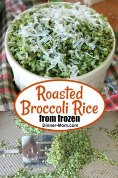 Roasted Broccoli Rice using fresh or FROZEN riced broccoli is light and fluffy with crispy brown bits It s obsessively good whether your eating low-carb and gluten-free or not broccolirice broccoli Frozen Cauliflower Rice, Frozen Broccoli, Fresh Broccoli, Broccoli Rice, Roasted Cauliflower, Riced Broccoli Recipes, Rice Recipes For Dinner, South Beach Diet
