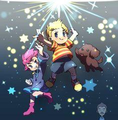 """あす en Twitter: """"PKスターストーム!!仲間がネスとリュカのもとに応援しにきてくれるの本当嬉しい… ポーラとプー、クマトラとボニーも動くところが見られるの楽しみ… """" Super Smash Bros, Nintendo Characters, Anime Characters, Metroid, Lucas Earthbound, Lucas Mother 3, Otaku, Saga, Chibi"""