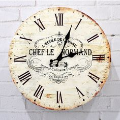 TRIXES-Large-Vintage-Shabby-Chic-Style-Wooden-French-Antique-Wall-Clock