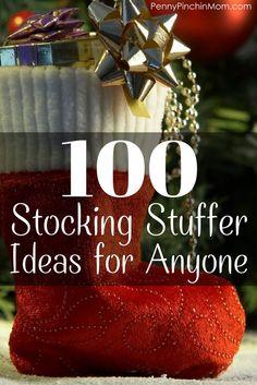 100 Stocking Stuffer Ideas for babies, kids, teens, men and women