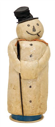 "Antique ""Snowman"" Spun Cotton Candy Container Decoration. .... Ladenburger Spielzeugauktion GmbH"