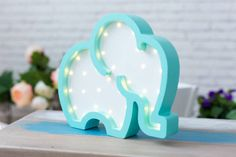 Kids room Night Light elephant Marquee light Battery operated