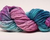 Thick and Thin Merino Yarn Slub Hand Dyed TTS by 1AZColorworks