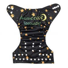 Always Kiss Me Goodnight cloth diaper. Alva Baby NEW!