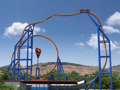 """The """"Superman: Ultimate Fight"""" ride at Six Flags Discovery Kingdom Vallego, CA"""
