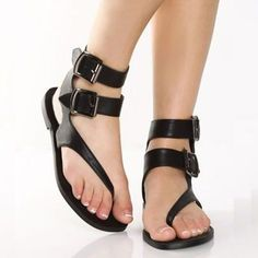 Greecian black double strap gladiator sandals Vegan leather sandals with a  diagonal toe thong strap that wrap around your ankle with two inch wide  straps ... fb5fc80f92e9