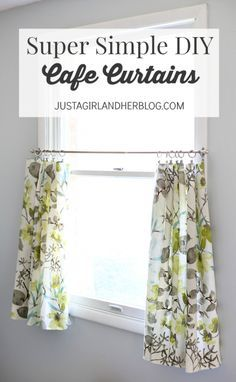 Turn a plain dish towel into delicate cafe curtains instructions love these beautiful curtains and the tutorial is so easy to understand justagirlandherblog solutioingenieria Choice Image
