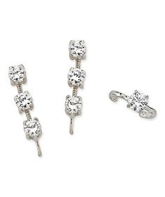 Love this Cubic Zirconia 3-in-1 Ear Pins® & Ear Cuff on #zulily! #zulilyfinds