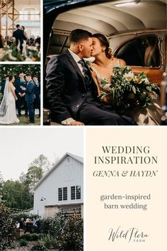See how Barn of Chapel Hill's on site floral design studio, Wild Flora Farm, was able seamlessly incorporate this soft color palette throughout the ceremony and reception using golden peach + soft mustard floral arrangements to compliment the blue hues of the bridesmaid dresses. Look inside Genna + Haydn's wedding gallery and draw inspiration for your own garden-themed barn wedding.