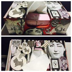 Fornasetti, Varga, skulls and scotties. Tissue box.