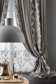 Taimyr Allover tenda - Chicca Orlando - Italian Craftmanship - Luxury texile furnitures for you home in 2019 Living Room Decor Curtains, Decor Home Living Room, Home Curtains, Luxury Curtains, Elegant Curtains, Curtain Designs For Bedroom, Rideaux Design, Living Room Tv Unit Designs, Window Treatments Living Room