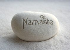 Namaste pebble - engraved beach pebble by sjEngraving