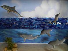 a dolphin Diorama