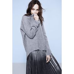 """It's all about the knits and grey tones this fall, shop Keri mohair blend sweater (399SEK/39.95EUR) and Desiree skirt (399SEK/39.95EUR) on ginatricot.com…"""