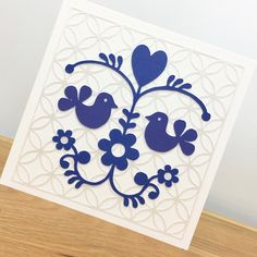 Based on Scandinavian Folk Art Scandinavian Folk Art, Blank Cards, Love Birds, Greeting Cards Handmade, Kids Rugs, Unique, Hand Made Greeting Cards, Love Sick, Kid Friendly Rugs