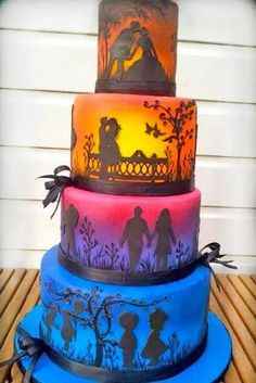 18 Eye-Catching Unique Wedding Cakes ❤ See more: www.weddingforwar… 18 Eye-Catching Unique Wedding Cakes ❤ See more: www. Amazing Wedding Cakes, Unique Wedding Cakes, Unique Cakes, Unique Weddings, Amazing Cakes, Blush Weddings, White Weddings, Elegant Wedding, Rustic Wedding