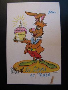 Vintage Old France WALT DISNEY TOBLER Chocolates Advertising Postcard...