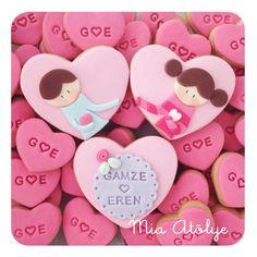 Sevgiliye sürpriz kurabiyeler | Mia Atölye