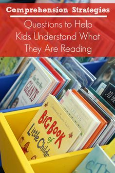 Comprehension Strategies: Questions to ask before, during, and after reading to help kids monitor how well they understand what they are reading.