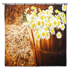 Daisy Bunch Shower Curtain  Choice of Sizes by susanakame1 on Etsy