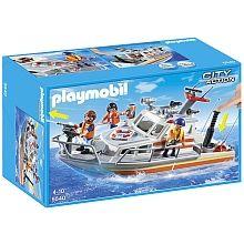 Playmobil - Bateau de sauvetage et Pompe incendie  - 5540