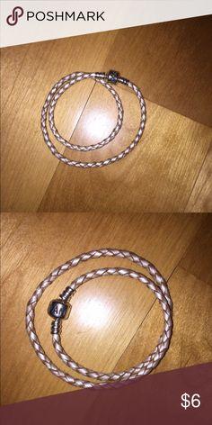 Rope Bracelet Pandora Rope Bracelet. Never used. Authentic Pandora Jewelry Bracelets
