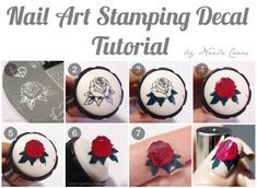 Nailz Craze: Nail Art Stamping Decal Turotial-----What a super cool idea!!