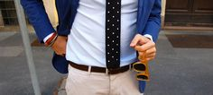 Jacket + Tie + Sunglasses + Bracelet