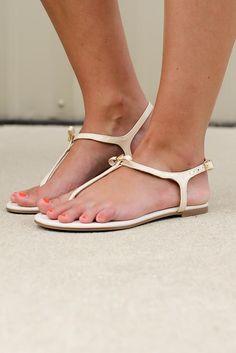96a704f98d6076 Bow Sandal - Bone Female Feet