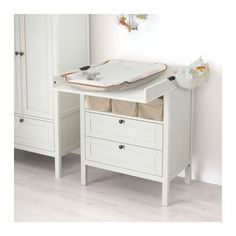 Buy IKEA SUNDVIK Changing table/chest of drawers, White. The changing table has a long life, as it's easy to convert into a chest of drawers when your child is past the nappy stage. Ikea Changing Table, Best Changing Table, Baby Dresser, Ikea Dresser, Baby Bedroom, Baby Boy Rooms, Ikea Nursery, Baby Room Colors, Baby Decor