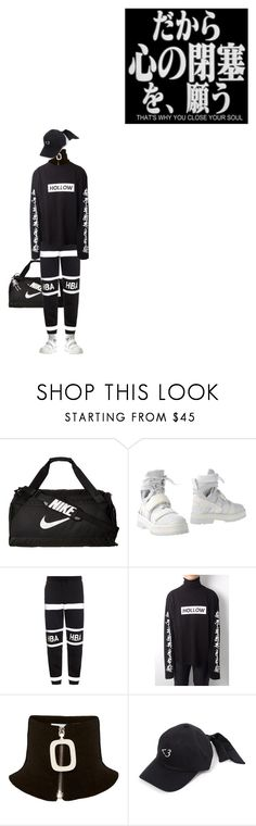 """""""Hollow"""" by bubblegumbae ❤ liked on Polyvore featuring NIKE, Hood by Air, J.W. Anderson, monochrome, adidas, blackandwhite, Hollow and aesthetic"""
