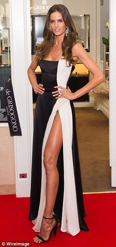 Stunning: Izabel Goulart and Chanel Iman were dripping in diamonds at the De Grisogono sto...