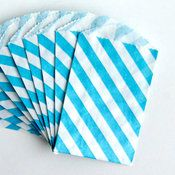 Image of Aqua Blue Striped Itty Bitty Bags