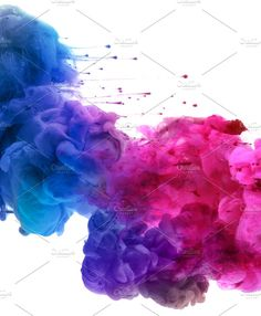 colors and ink in water. by Liliia Rudchenko on