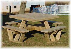 square picnic table plans free | woodideas