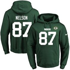 Nike Packers #87 Jordy Nelson Green Name & Number Pullover NFL Hoodie