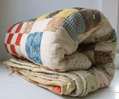 Antique farmhouse quilt,