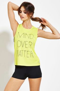 Mind Over Matter Graphic Tank - Activewear - Tops - 2000151461 - Forever 21 EU English