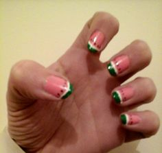 Watermelon nails :D