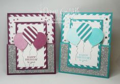 Happy Birthday to you gift card holders front  by Dawn Griffith Stampin