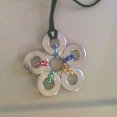 Washer necklace (birthstones)