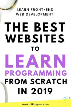 The Best Websites to Learn Coding for Beginners in 2019 - Learn new skills in coding and web development to start a career or start freelancing Learn Coding Online, Learn Computer Coding, Learn Computer Science, Learn Programming, Computer Programming, Python Programming, Skills To Learn, Learn To Code, Claves Wifi