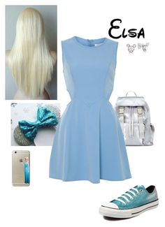 """""""Elsa Park Ready"""" by briony-jae ❤ liked on Polyvore featuring Disney, Converse, Miss Selfridge and Glamorous"""