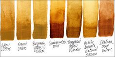 Watercolor Side-By-Side: Granulating Transparent Yellows