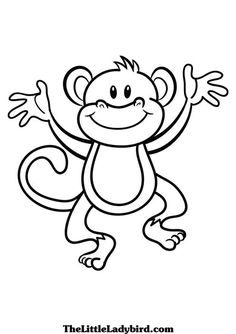 monkey coloring pages google search - Monkey Pictures To Color