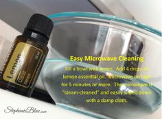 clean microwave with doTERRA lemon essential oil Easy Peasy Steam Clean Your Microwave Essential Oils Cleaning, Lemon Essential Oils, Essential Oil Uses, Healing Oils, Aromatherapy Oils, Natural Healing, Young Living Oils, Young Living Essential Oils, Cleaning Recipes