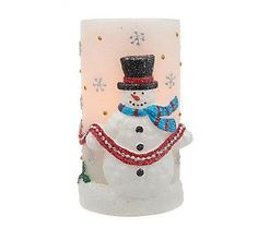 Home Reflections Holiday Flameless Candle & Timer