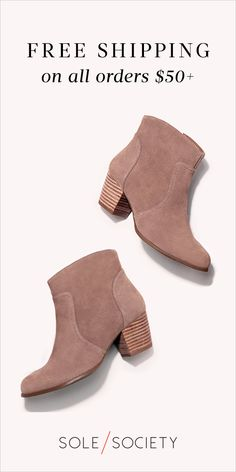 Shop the season's best shoes, handbags & accessories at Sole Society.com | Featured: Romy bootie in Taupe