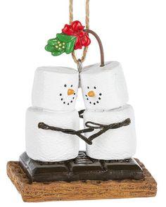 S'mores Original Kissing Mistletoe ornament, Item Sm170824.