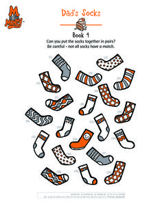 Dad's Socks Matching Game. Visit www.MisforMoney.ca to buy our books and for more free downloads and fun money stuff. #misformoney Money Songs, Financial Literacy, Matching Games, Free Downloads, Book Series, Cool Kids, Have Fun, Dads, Socks